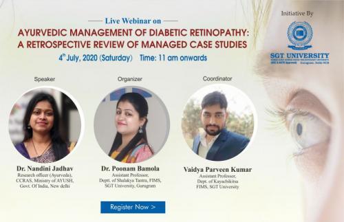Ayurvedic management of Diabetic Retinopathy